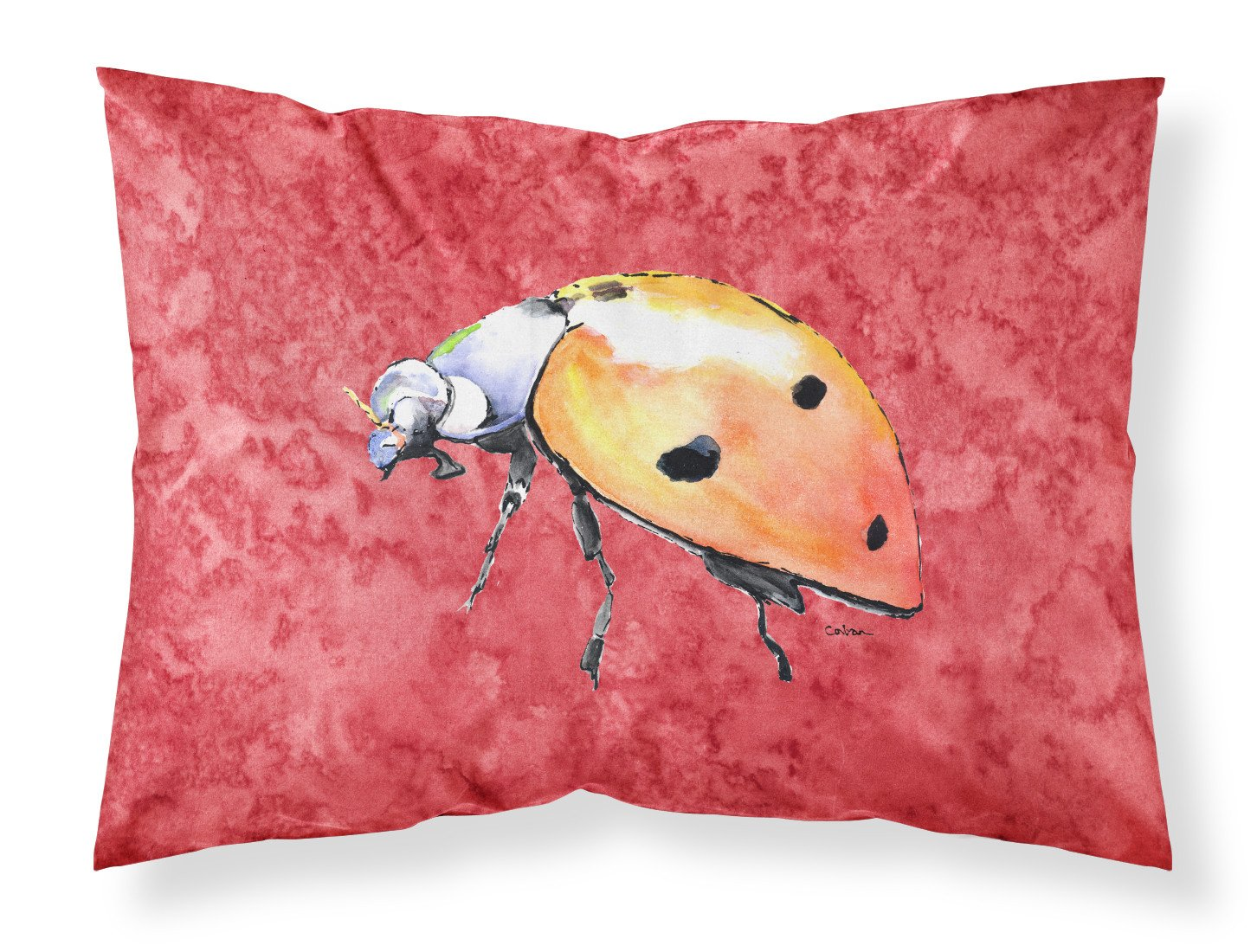 Buy this Lady Bug on Red Moisture wicking Fabric standard pillowcase