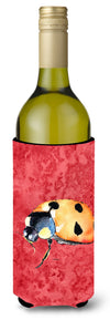 Lady Bug on Red Wine Bottle Beverage Insulator Beverage Insulator Hugger 8869LITERK by Caroline's Treasures