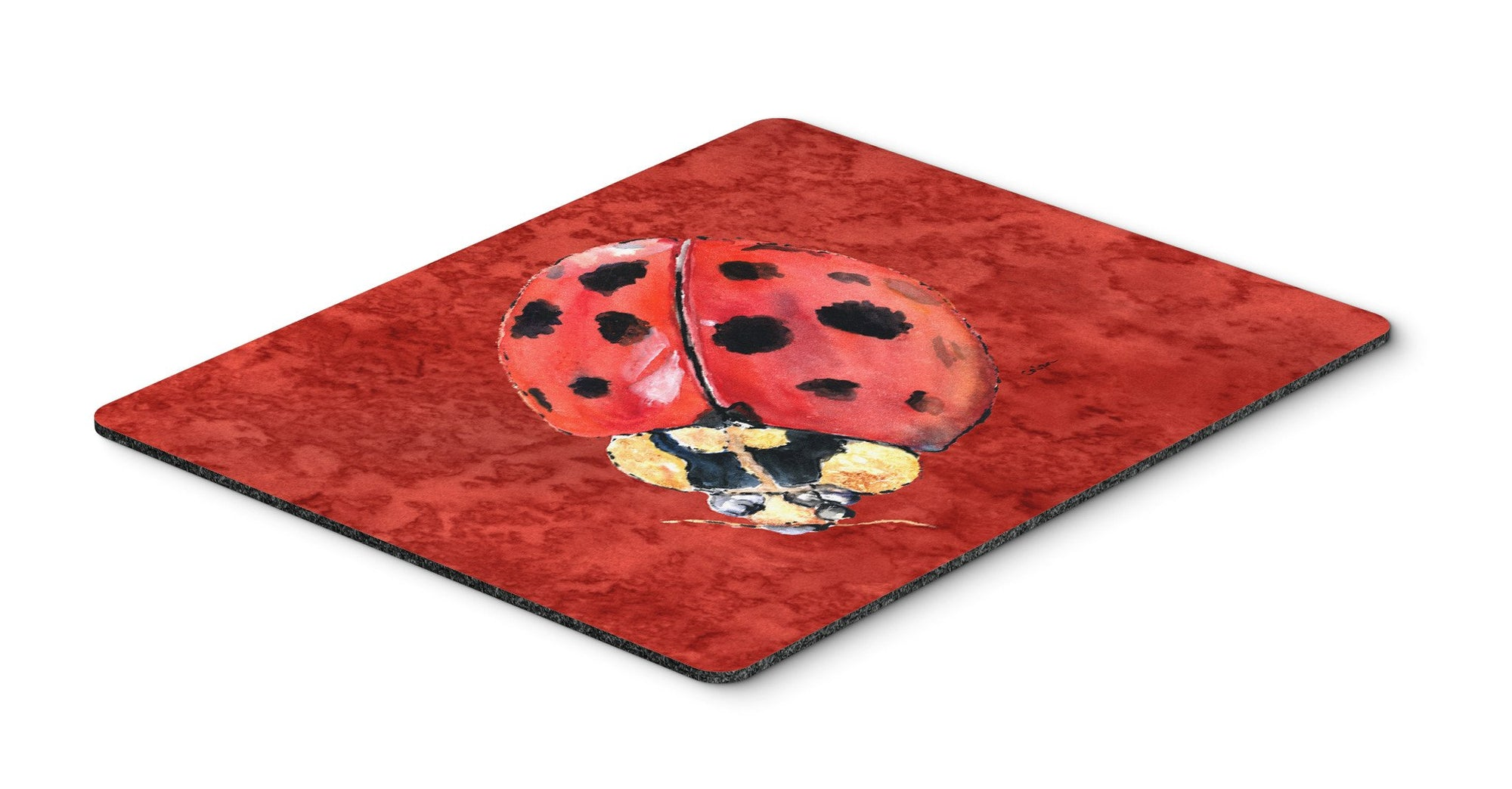 Lady Bug on Deep Red Mouse Pad, Hot Pad or Trivet by Caroline's Treasures