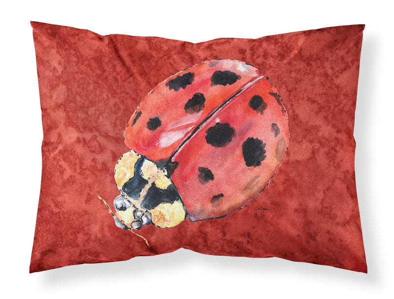 Buy this Lady Bug on Deep Red Moisture wicking Fabric standard pillowcase