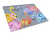 Flamingo Six Senses Glass Cutting Board Large by Caroline's Treasures