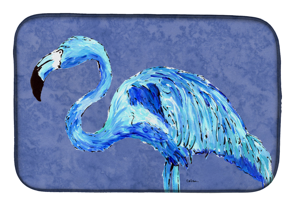 Buy this Flamingo On Slate Blue Dish Drying Mat 8873DDM