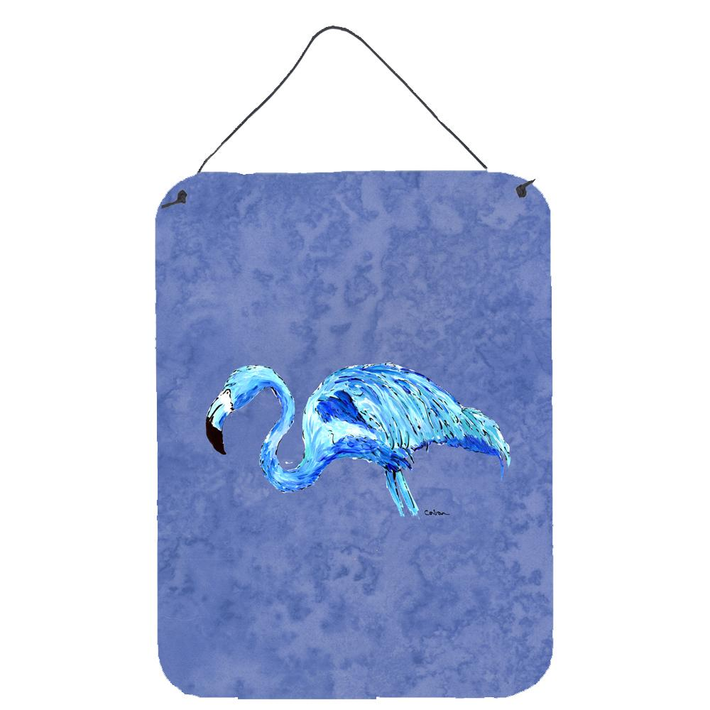 Buy this Flamingo On Slate Blue Aluminium Metal Wall or Door Hanging Prints
