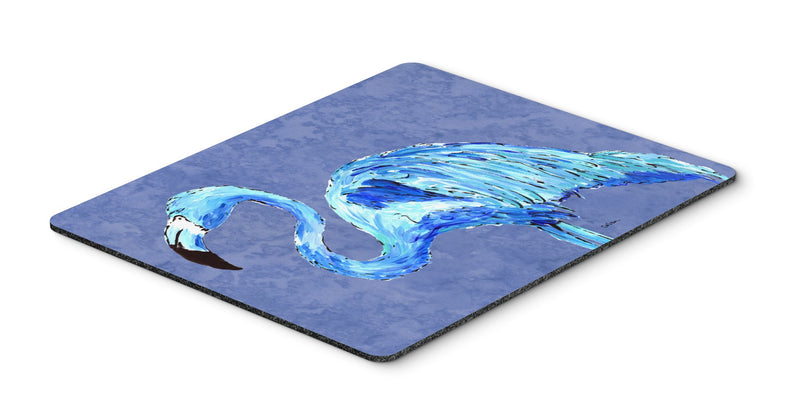 Buy this Flamingo On Slate Blue Mouse Pad, Hot Pad or Trivet