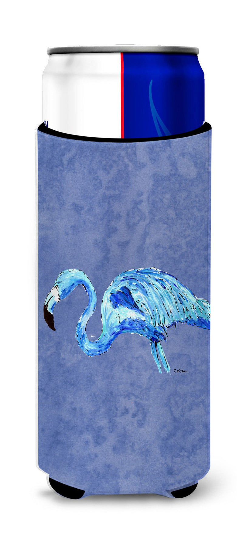 Buy this Flamingo On Slate Blue Ultra Beverage Insulators for slim cans 8873MUK