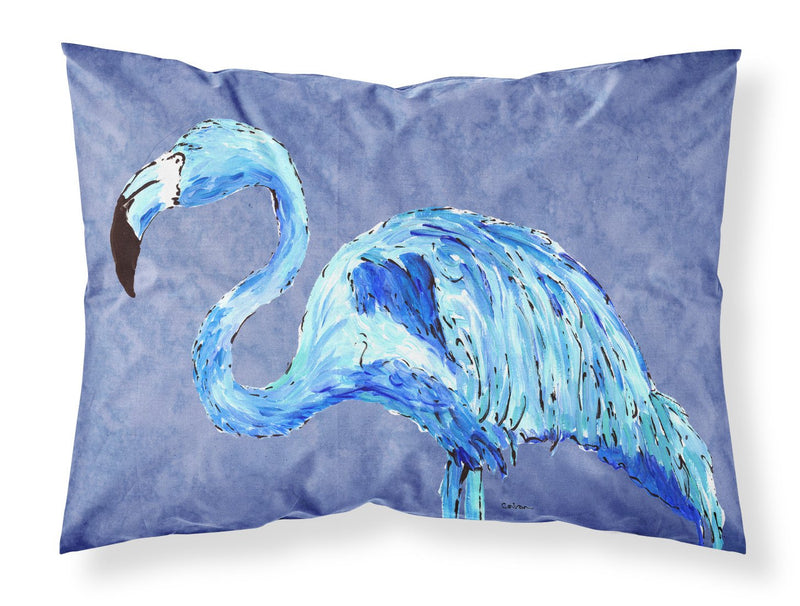 Buy this Flamingo On Slate Blue Moisture wicking Fabric standard pillowcase
