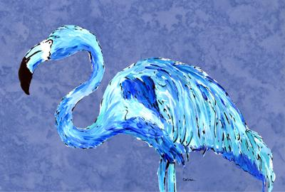 Buy this Flamingo On Slate Blue Fabric Placemat