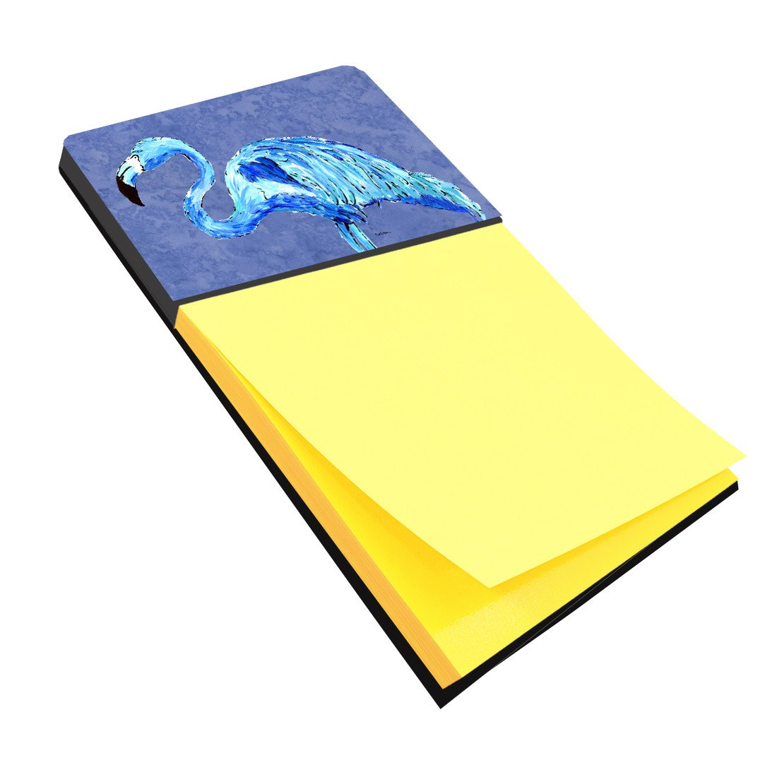 Buy this Flamingo On Slate Blue Refiillable Sticky Note Holder or Postit Note Dispenser 8873SN