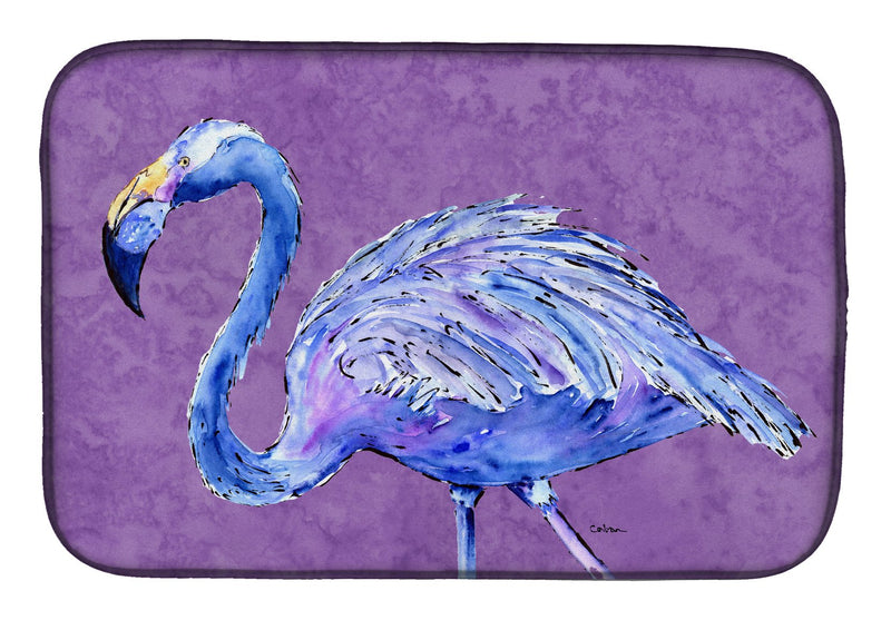 Buy this Flamingo on Purple Dish Drying Mat 8874DDM