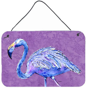 Buy this Flamingo on Purple Aluminium Metal Wall or Door Hanging Prints
