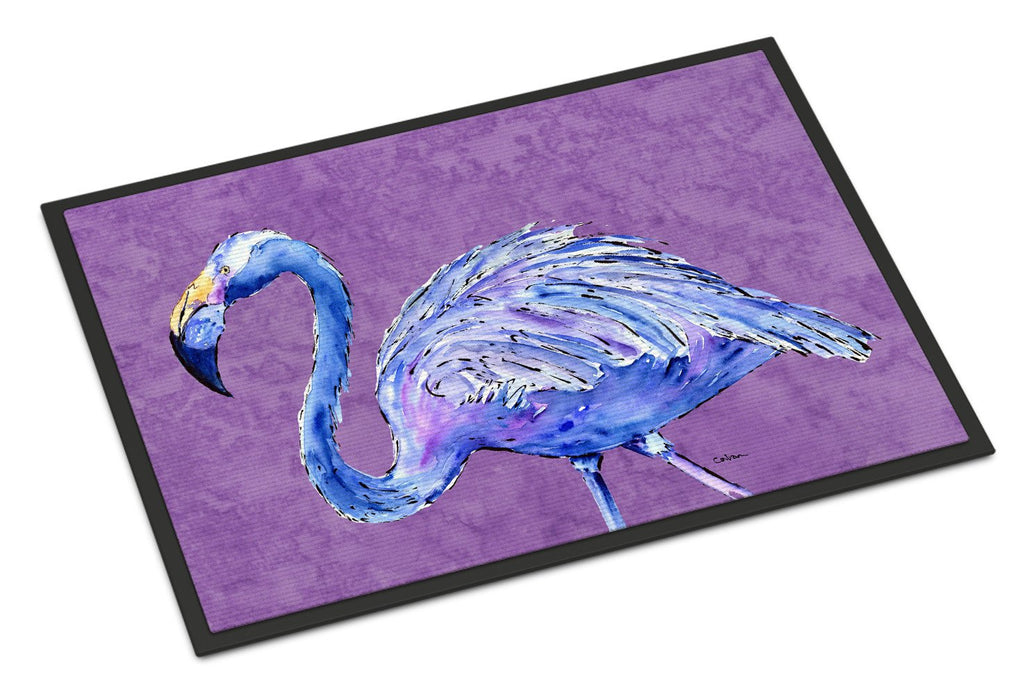 Buy this Flamingo on Purple Indoor or Outdoor Mat 18x27 Doormat