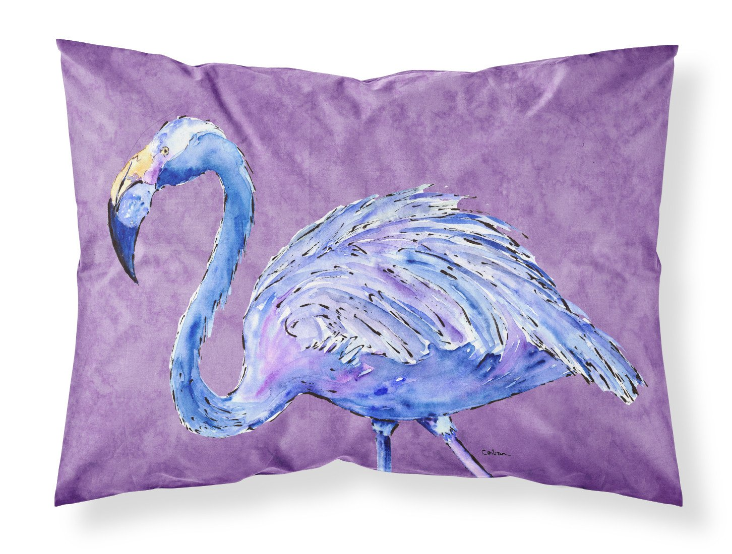 Buy this Flamingo on Purple Moisture wicking Fabric standard pillowcase