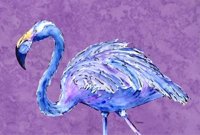 Buy this Flamingo on Purple Fabric Placemat