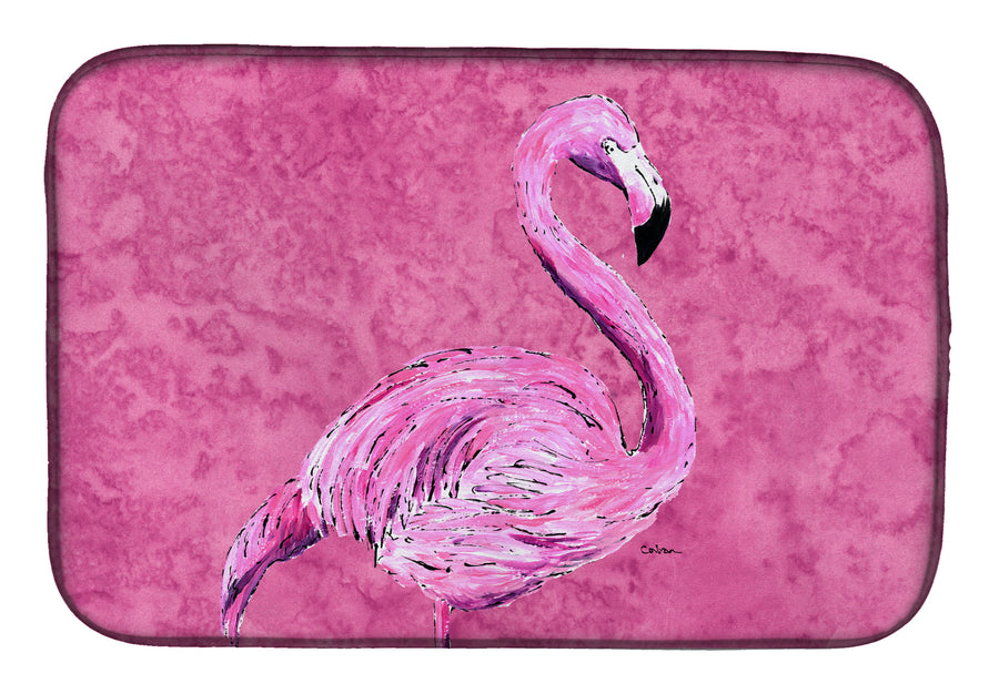 Buy this Flamingo on Pink Dish Drying Mat 8875DDM