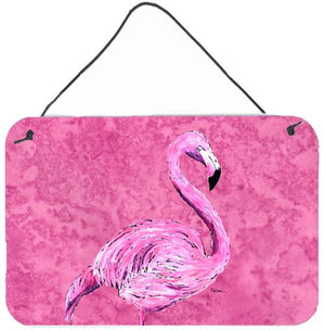 Buy this Flamingo on Pink Aluminium Metal Wall or Door Hanging Prints