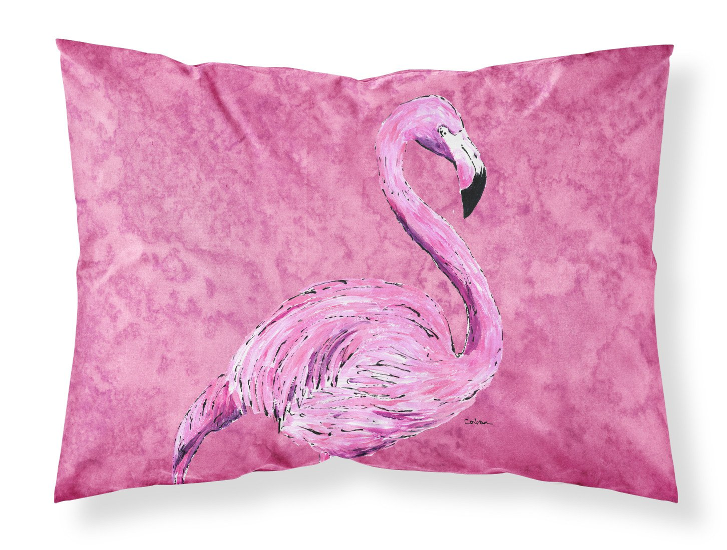 Buy this Flamingo on Pink Moisture wicking Fabric standard pillowcase