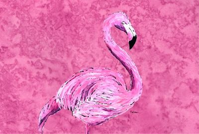 Buy this Flamingo on Pink Fabric Placemat
