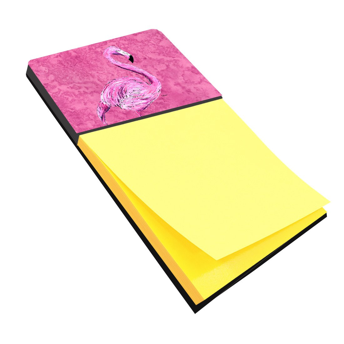 Flamingo on Pink Refiillable Sticky Note Holder or Postit Note Dispenser 8875SN by Caroline's Treasures