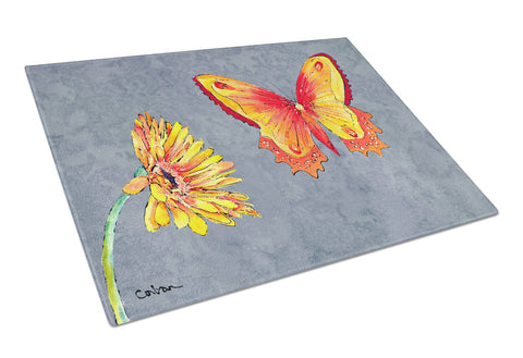 Buy this Gerber Daisy and Buttefly Glass Cutting Board Large