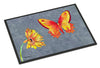 Gerber Daisy and Buttefly Indoor or Outdoor Mat 18x27 Doormat - the-store.com