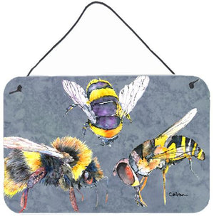 Buy this Bee Bees Times Three Aluminium Metal Wall or Door Hanging Prints