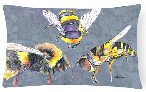 Buy this Bee Bees Times Three   Canvas Fabric Decorative Pillow