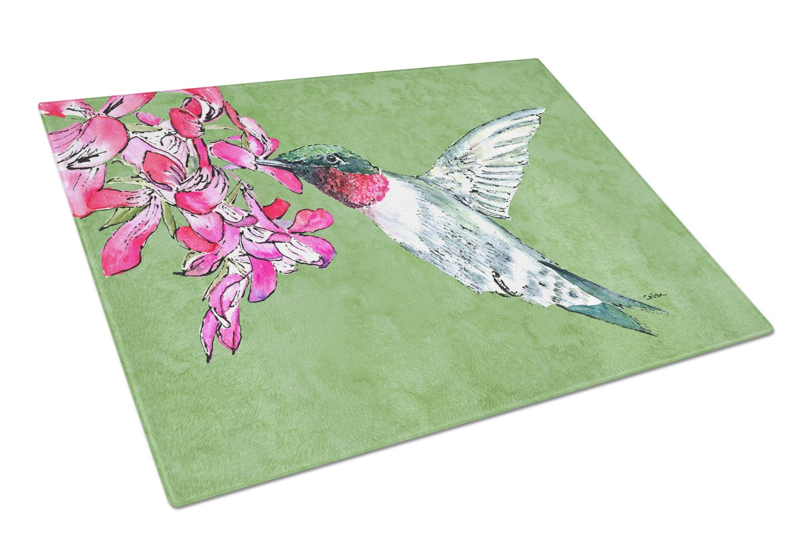 Buy this Hummingbird Glass Cutting Board