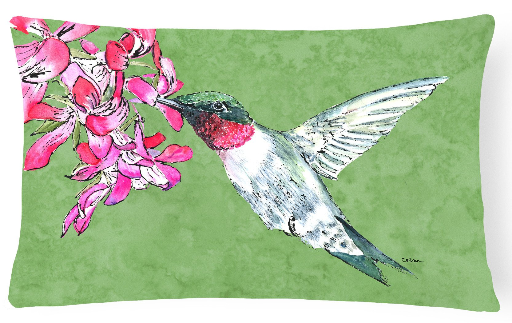 Hummingbird   Canvas Fabric Decorative Pillow by Caroline's Treasures