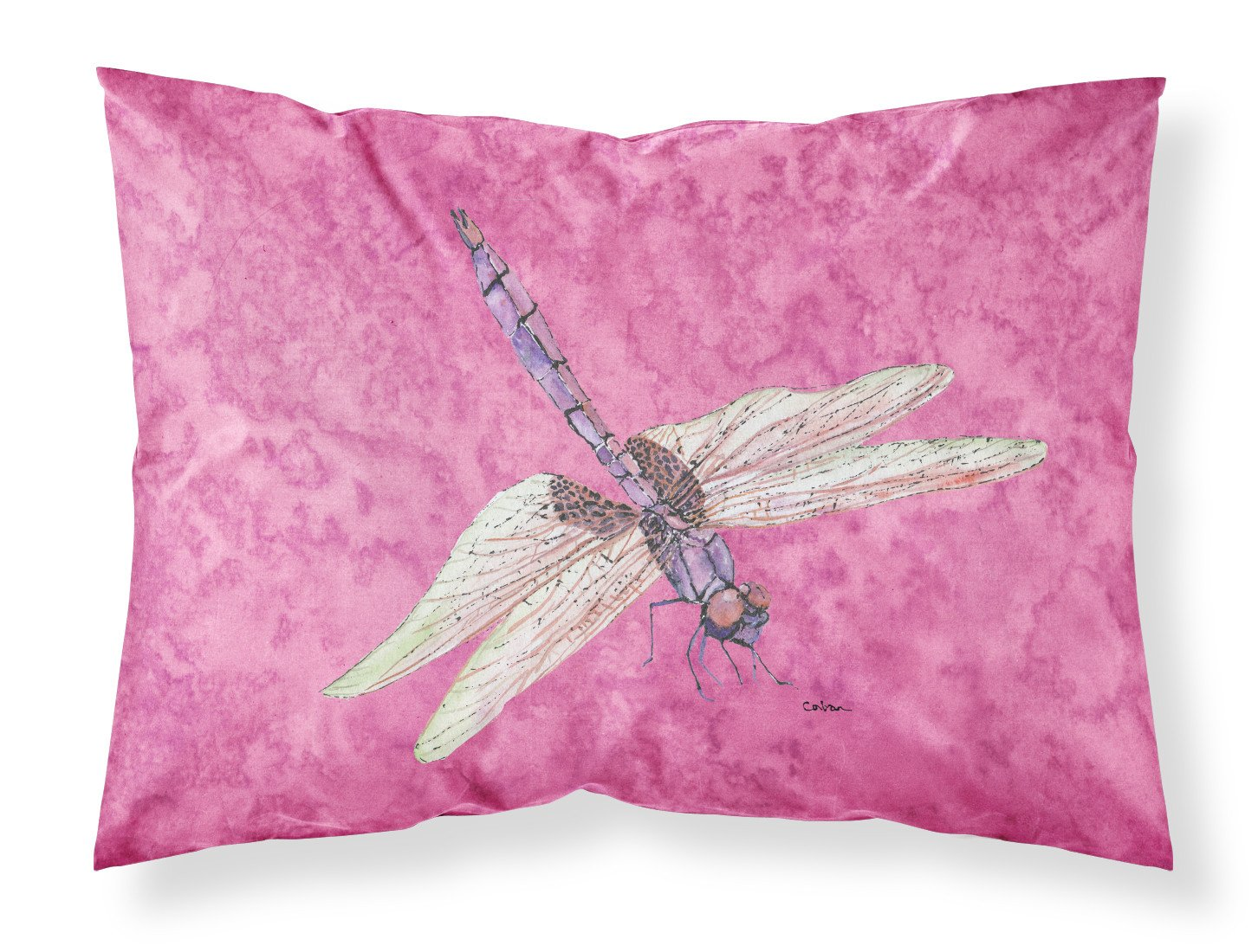 Buy this Dragonfly on Pink Moisture wicking Fabric standard pillowcase