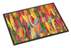 Hot Peppers Indoor or Outdoor Mat 18x27 by Caroline's Treasures