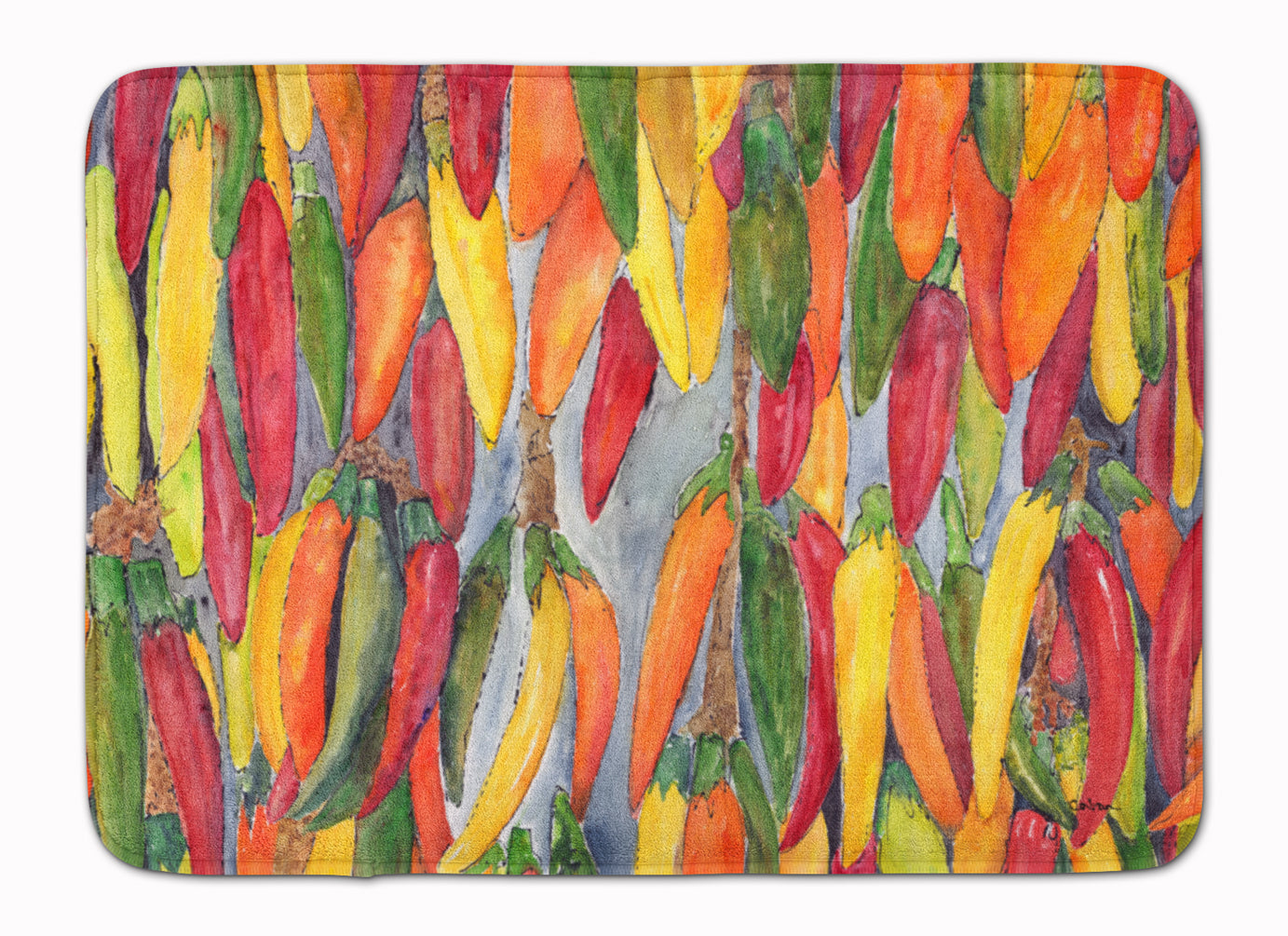 Hot Peppers Machine Washable Memory Foam Mat 8893RUG by Caroline's Treasures