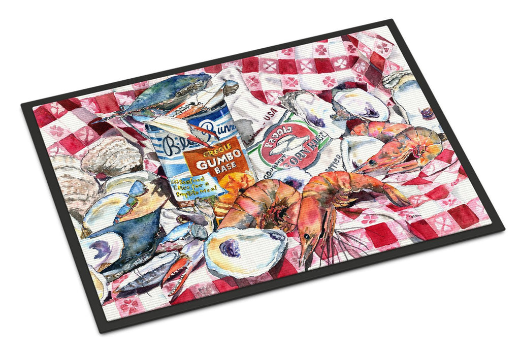 Buy this Blue Runner Gumbo Receipe Indoor or Outdoor Mat 18x27