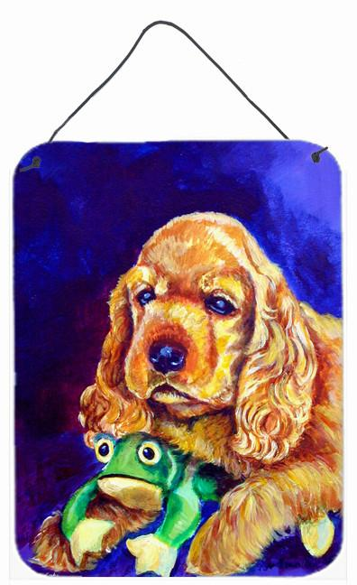 Buy this Cocker Spaniel with Frog Wall or Door Hanging Prints 7342DS1216