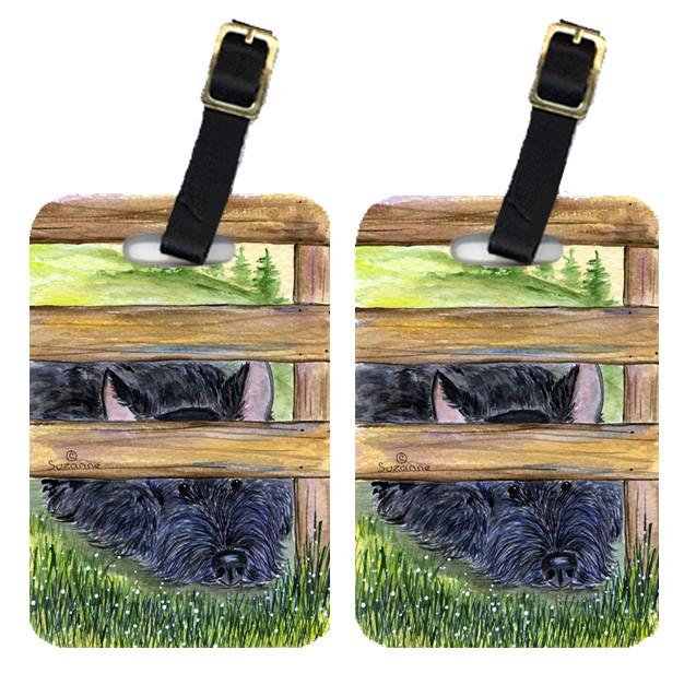 Pair of 2 Scottish Terrier Luggage Tags by Caroline's Treasures