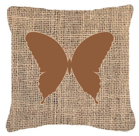Buy this Butterfly Burlap and Brown   Canvas Fabric Decorative Pillow BB1048