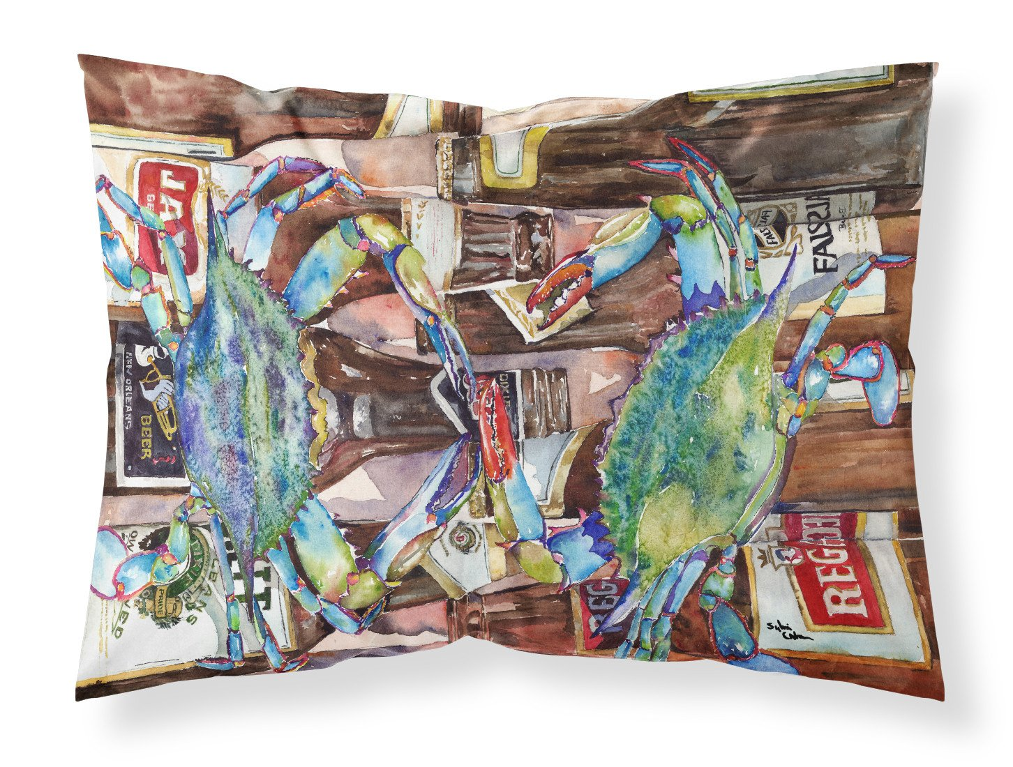 Buy this Blue Crabby New Orleans Beer Bottles Moisture wicking Fabric standard pillowcase