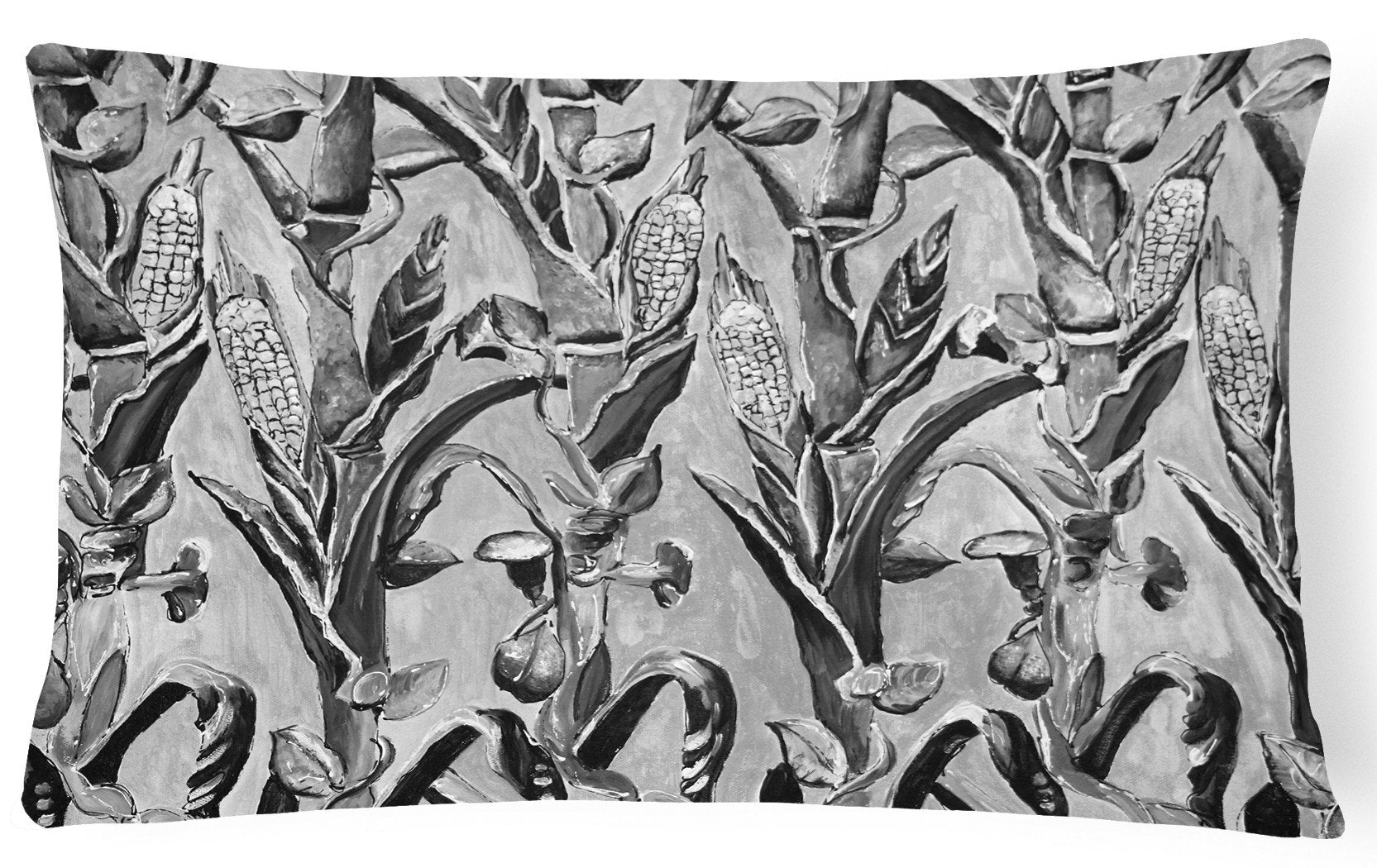 Corn Ironwork Fence Canvas Fabric Decorative Pillow 8929PW1216 by Caroline's Treasures