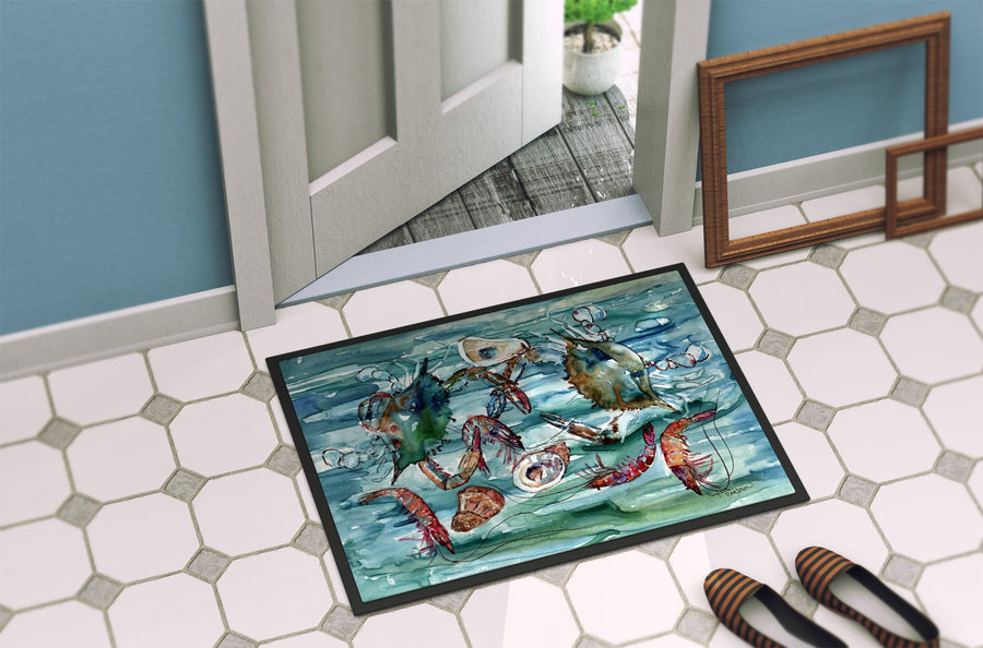 Buy this Crabs, Shrimp and Oysters in Water Indoor or Outdoor Mat 24x36 8944JMAT