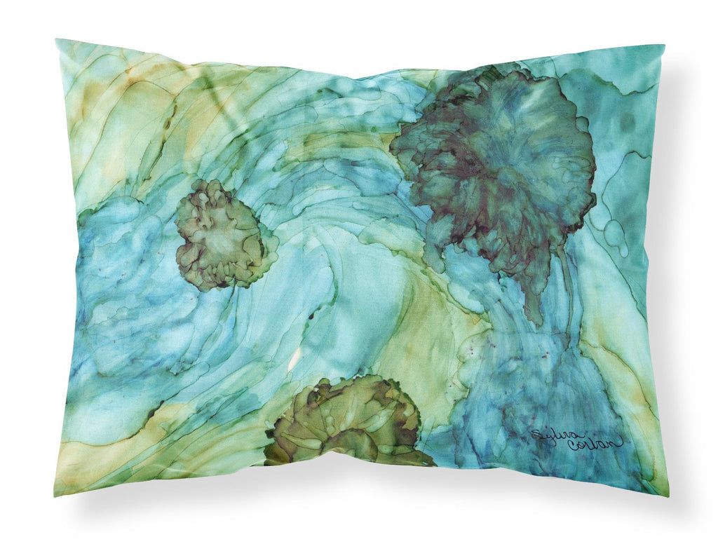 Buy this Abstract in Teal Flowers Fabric Standard Pillowcase 8952PILLOWCASE