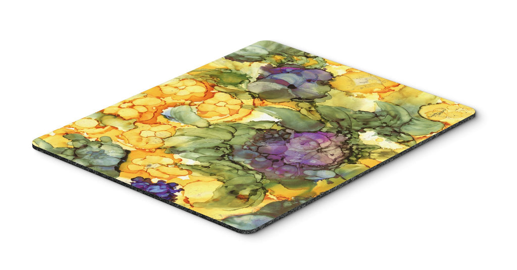 Buy this Abstract Flowers Purple and Yellow Mouse Pad, Hot Pad or Trivet 8958MP