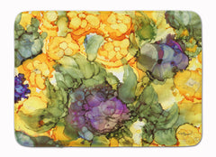 Buy this Abstract Flowers Purple and Yellow Machine Washable Memory Foam Mat 8958RUG