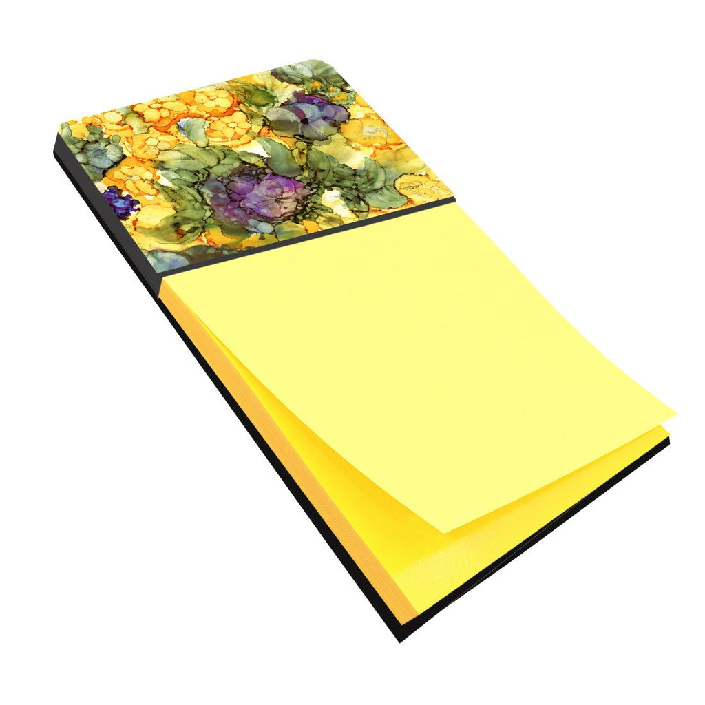 Buy this Abstract Flowers Purple and Yellow Sticky Note Holder 8958SN