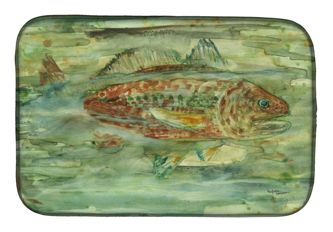 Buy this Abstract Red Fish Dish Drying Mat 8960DDM