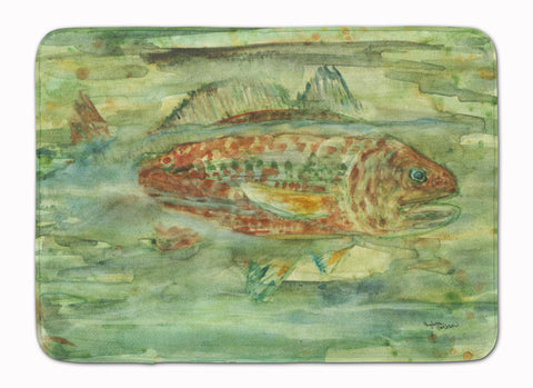 Buy this Abstract Red Fish Machine Washable Memory Foam Mat 8960RUG