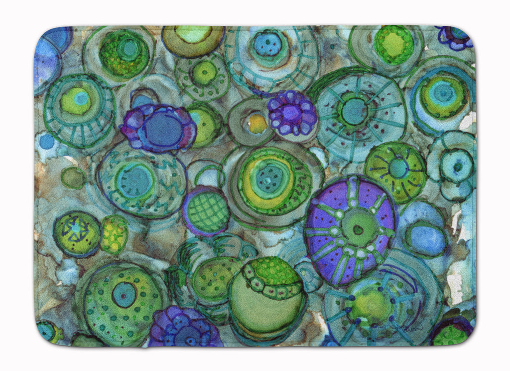 Buy this Abstract in Blues and Greens Machine Washable Memory Foam Mat 8962RUG