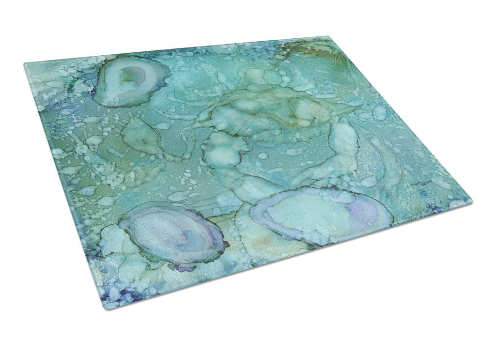 Buy this Abstract Crabs and Oysters Glass Cutting Board Large 8963LCB