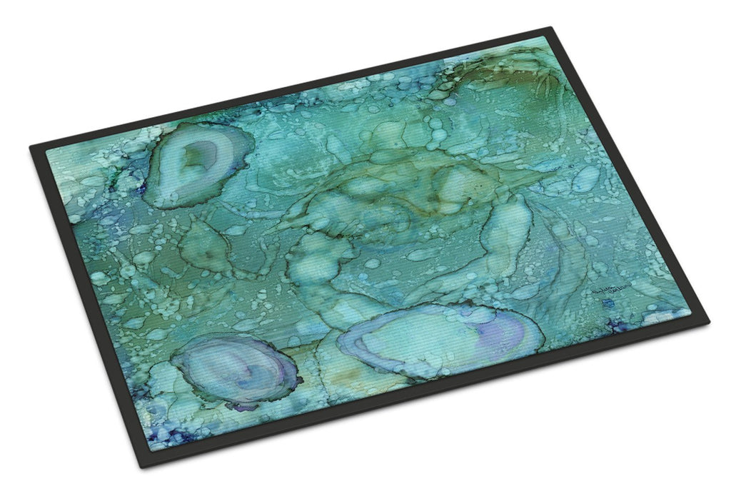 Buy this Abstract Crabs and Oysters Indoor or Outdoor Mat 18x27 8963MAT