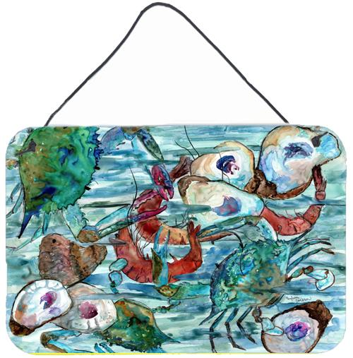 Watery Shrimp, Crabs and Oysters Wall or Door Hanging Prints 8964DS812 by Caroline's Treasures