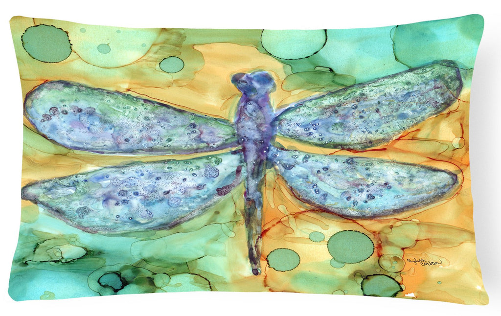 Buy this Abstract Dragonfly Fabric Decorative Pillow 8967PW1216