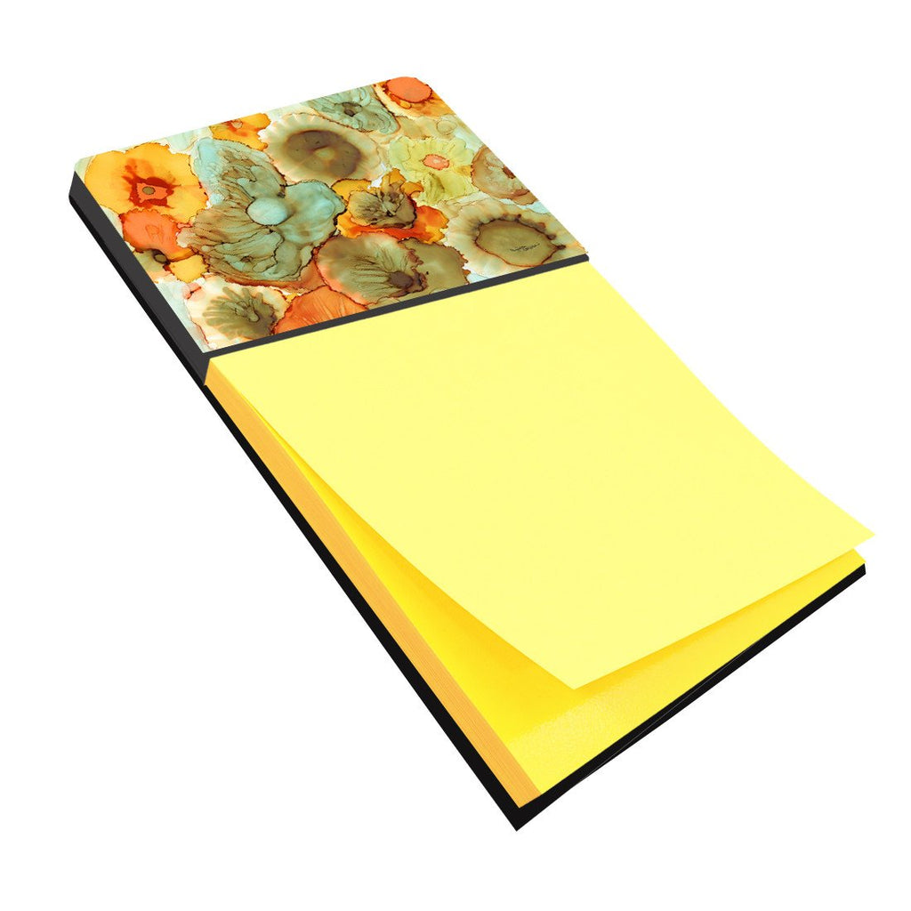 Buy this Abstract Flowers Teal and Orange Sticky Note Holder 8969SN